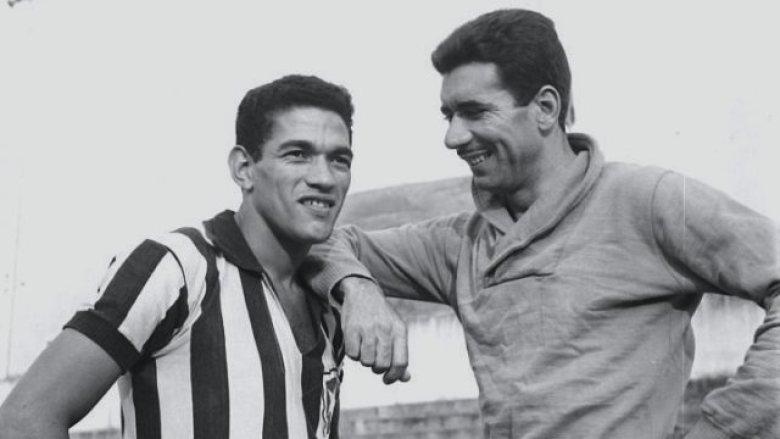 Garrincha con l'amico e compagno di squadra Nilton Santos