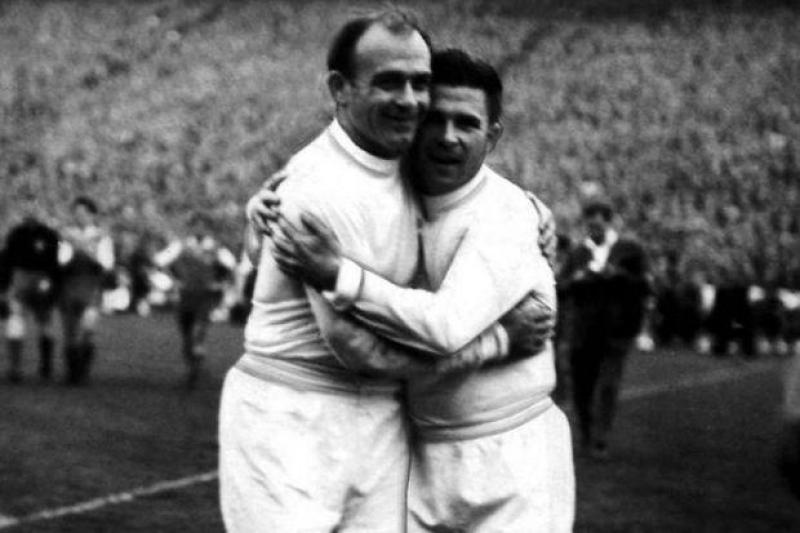 Di Stefano e Puskas nel Real Madrid