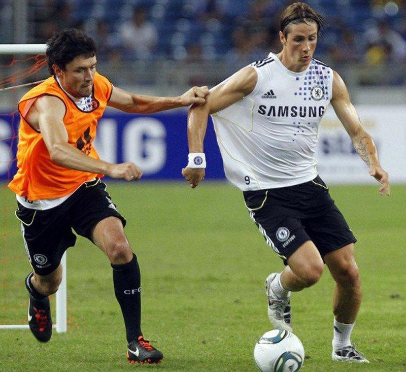 Zirkhov e Torres in allenamento.