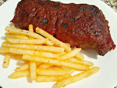 Crockpot BBQ Ribs for Two with fries
