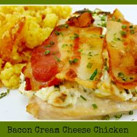 Bacon Cream Cheese Chicken - easy dinner