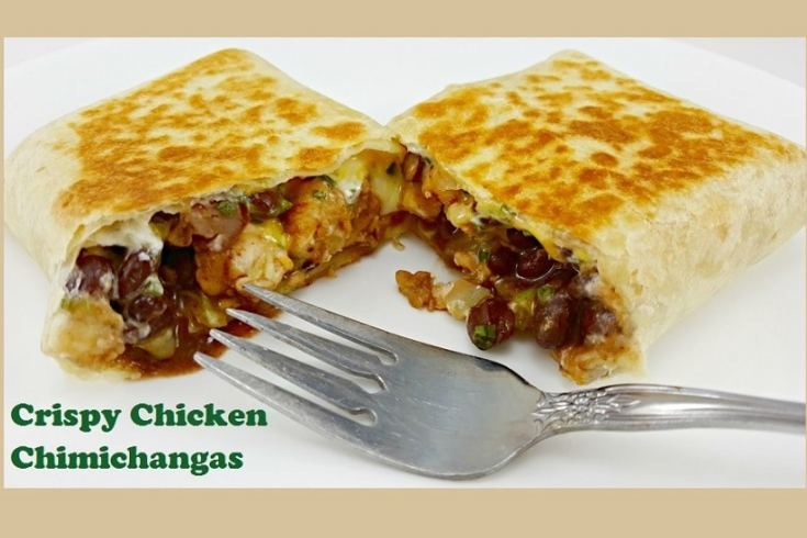 Crispy Chicken Chimichangas easy dinner