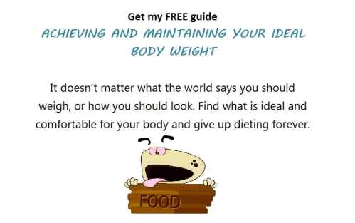 Find your ideal body weight, not what the world says you should weigh