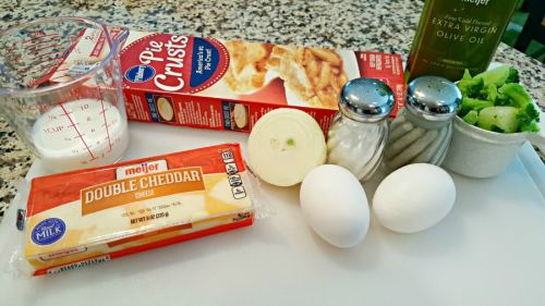 Individual Broccoli Cheese Quiche For Two ingredients