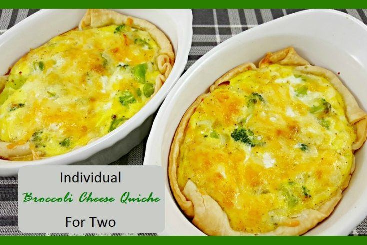 Individual Broccoli Cheese Quiche For Two perfect for breakfast