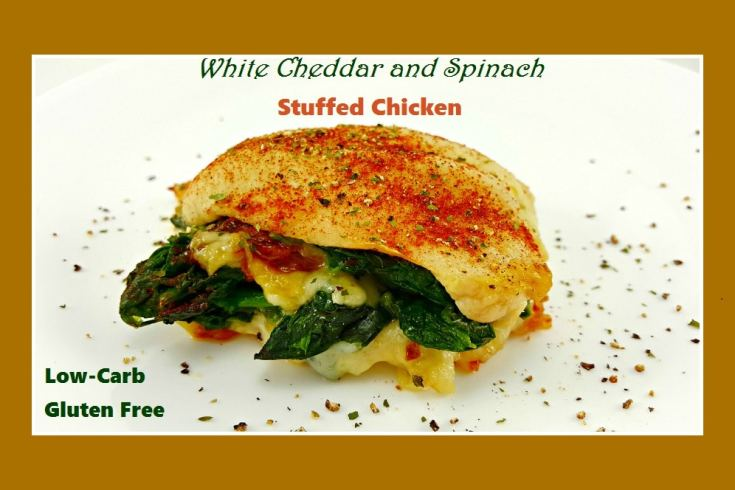White Cheddar and Spinach Stuffed Chicken, yum! - zonacooks