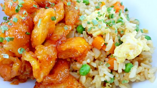 Baked Sweet and Sour Chicken with Homemade Fried Rice - Serves 2