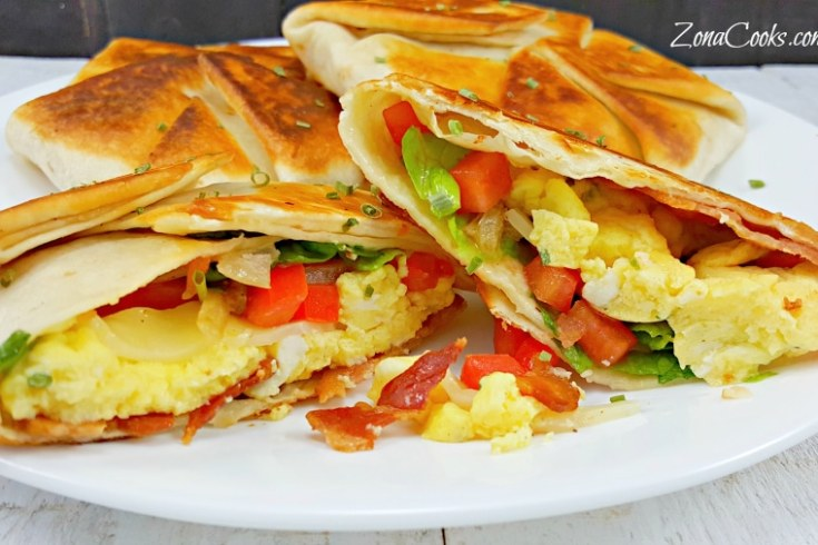 Breakfast Crunchwraps - delicious crispy golden brown shell