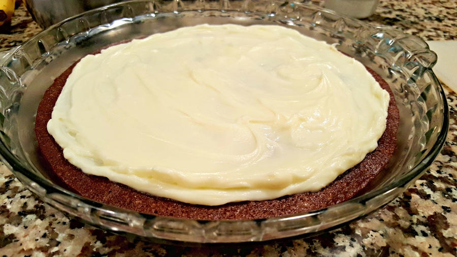 Fruity Brownie Pizza - spread cream cheese mixture over brownie