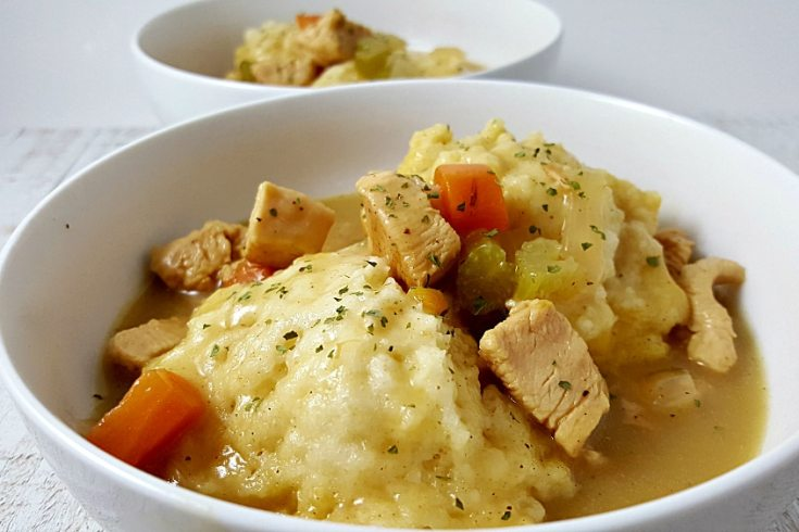 Easy Chicken and Dumplings Recipe for Two - delicious comfort food!