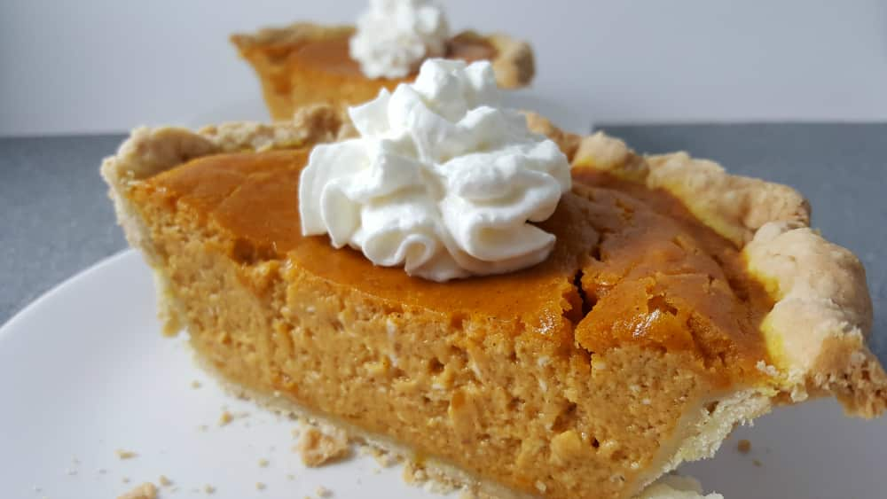 Pumpkin Pie for two recipe small batch - perfect fall or intimate Thanksgiving dessert.