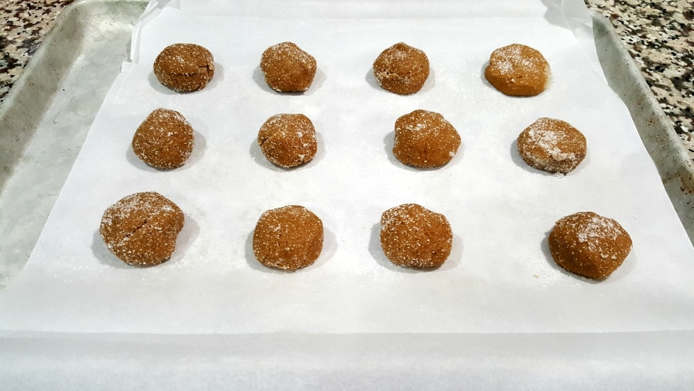 Soft Gingerbread Cookies Small Batch Recipe - place the cookies on a parchment lined baking sheet