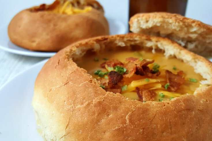 Cheddar Beer Soup Small Batch Recipe - creamy, cheesy goodness!