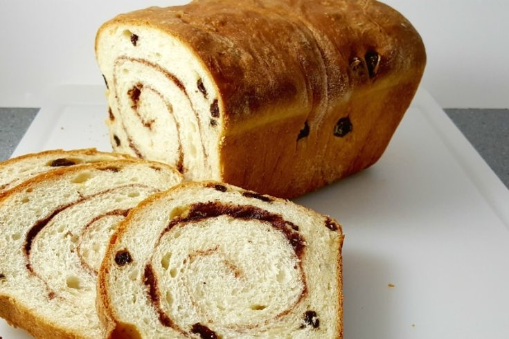 Homemade Cinnamon Swirl Raisin Bread Recipe - delicious as toast slathered with butter