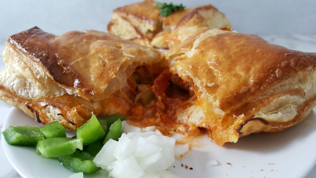 Cheesy Pizza Puff Pastry Calzones Recipe for Two - easy and delicious dinner!