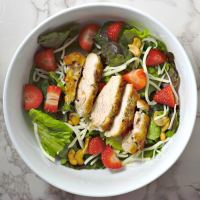 Chicken Strawberry Salad and Poppy Seed Dressing Recipe for Two - small batch