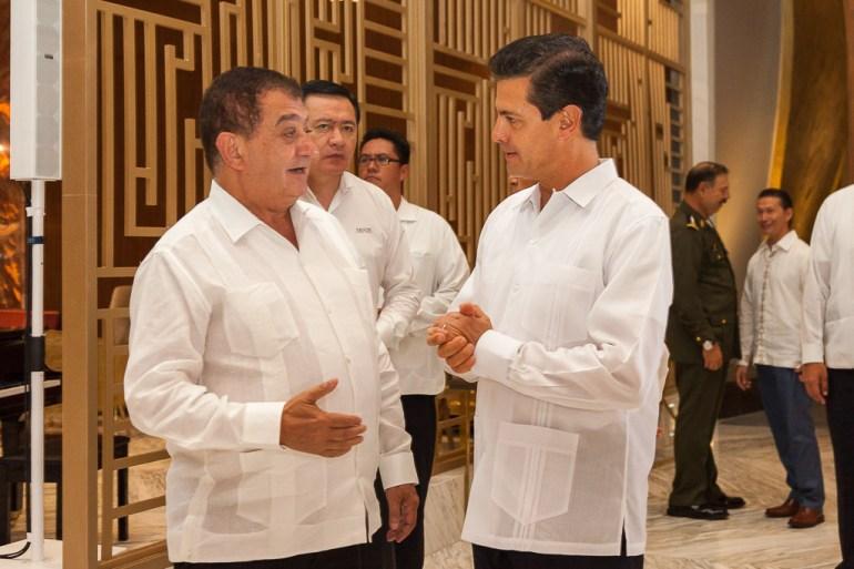 JOSE CHAPUR, PRESIDENT PALACE RESORTS & MEXICAN PRESIDENT ENRIQUE PENA NIETO