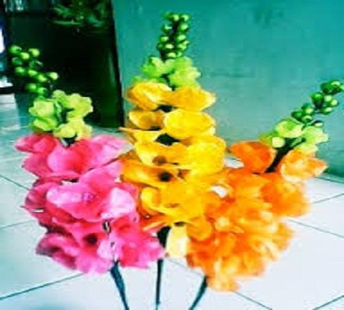 bunga dari plastik kresek