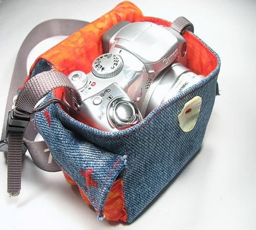 tas kamera jeans bekas