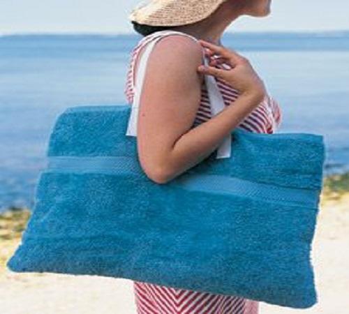 Cara Mudah Membuat Tas Pantai dari Handuk