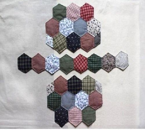 Tutorial Membuat Tas Patchwork Hexagon dari Kain Perca atau Baju Bekas 1