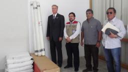Iglesia dona productos para fortalecer la erradicación del dengue en Piura. Cortesía Noticiasmormonas.org.pe