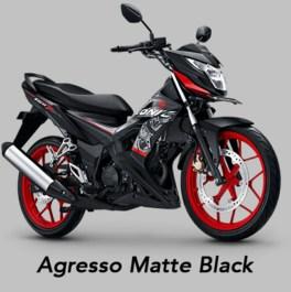 Agresso Matte Black - Warna baru Honda Sonic 150R MY 2019