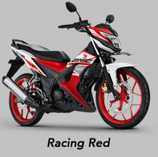 Warna baru Honda Sonic 150R MY 2019 - Racing Red
