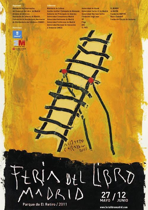 Cartel de Alberto Corazón para la Feria del Libro de Madrid 2011