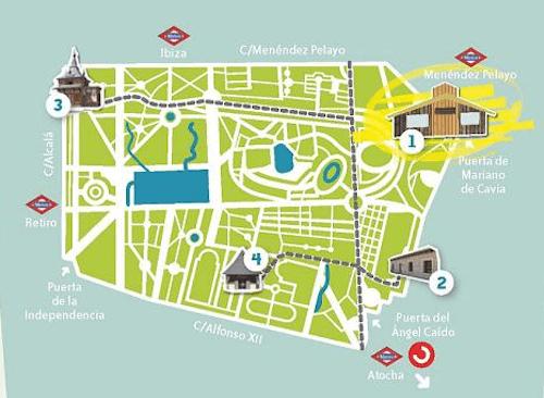 Plano Parque Del Retiro Mapa.Visita Guiada Gratuita A Los Arboles Singulares Del Retiro