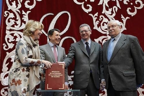 Aguirre, González, Gallardón y Leguina, este jueves 28 de febrero - CAM