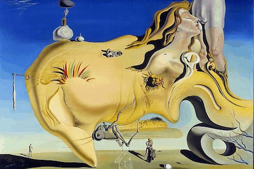 'Visage du Grand Masturbateur' de Dalí