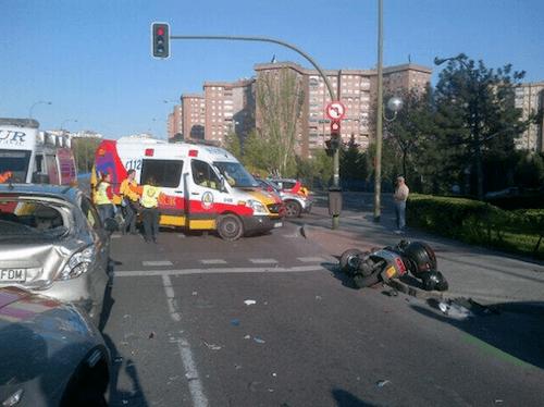 Lugar de los hechos, tras el accidente - Ayto