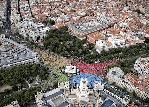 Más de 40.000 apoyaron la candidatura de 'Madrid 2016' el 27 de septiembre de 2009