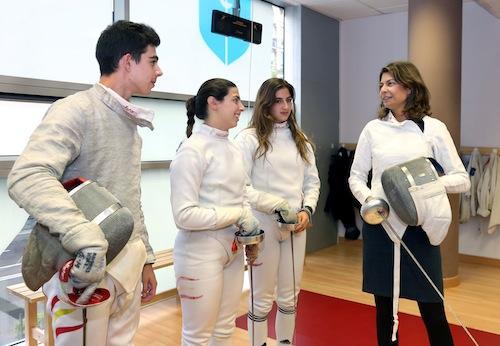 Lucía Figar, en el Club de Esgrima de Madrid (CAM)