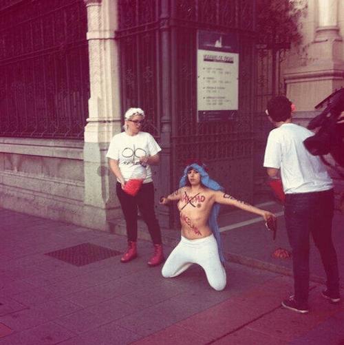 Protesta en San Manuel y San Benito - FemenSpain