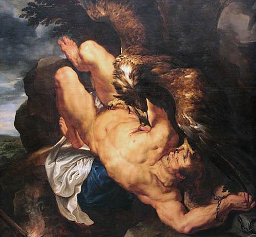 Prometeo encadenado, Rubens y Frans Snyders. 1611.