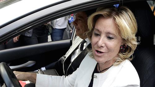 Aguirre, al llegar a la Asamblea el 25 de septiembre de 2012
