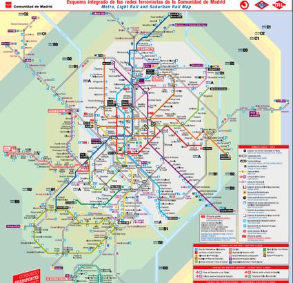 Mapa Lineas Emt Madrid.El Mejor Plano De Transportes Ferroviarios De Madrid Zona Retiro