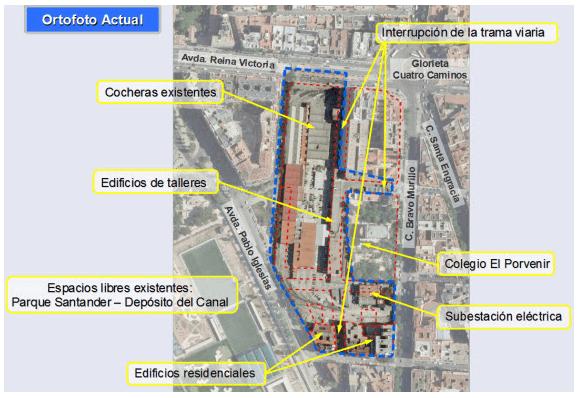 Zona de actuación urbanística. Fuente de la imagen: www.espormadrid.es