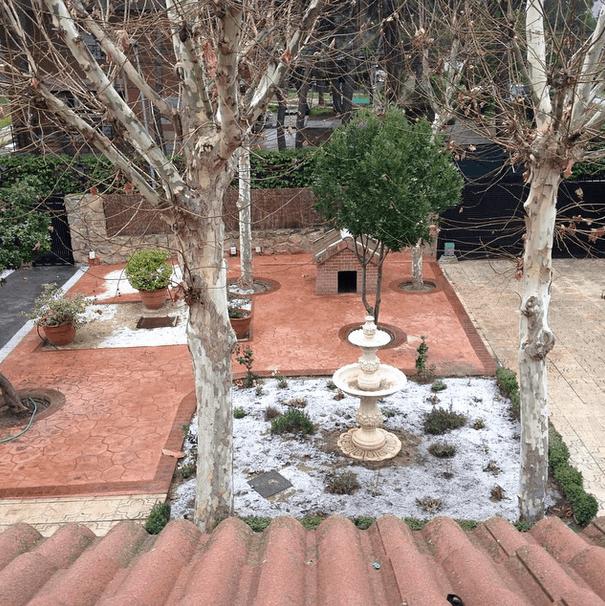 Nieve este domingo 18 en Villaviciosa de Odón Foto:  TW @RubnAbal