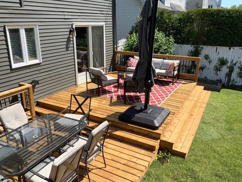 Terrasse en bois traité