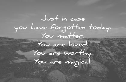 470 Amazing Love Quotes That Will Make You Feel Alive Again love quotes just in case you have forgotten today you matter you are loved  you are
