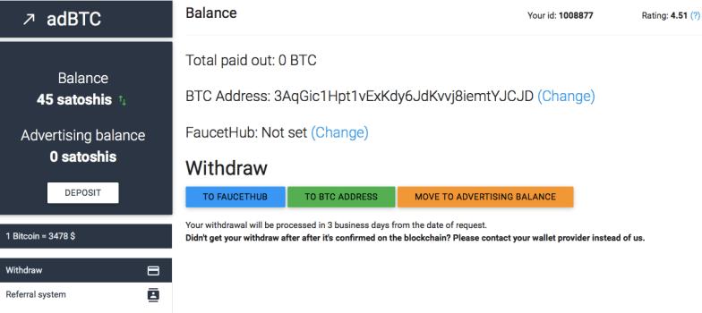 gagner des bitcoins avec la pub