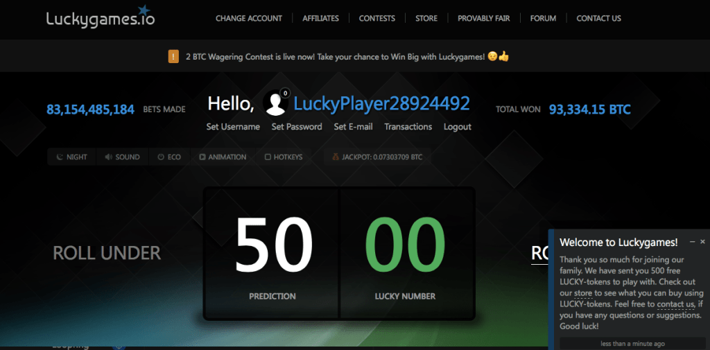 luckygame jeux bitcoins
