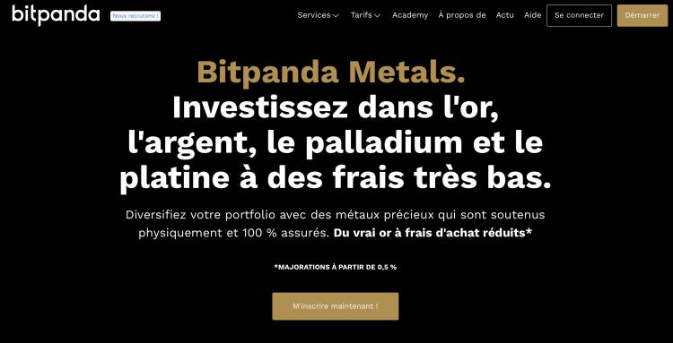 achat de l'or avec crypto