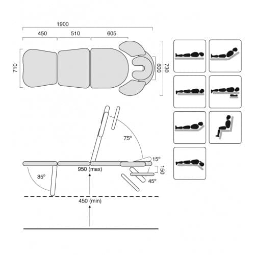 Comfort Spa Table - SX Dimensions