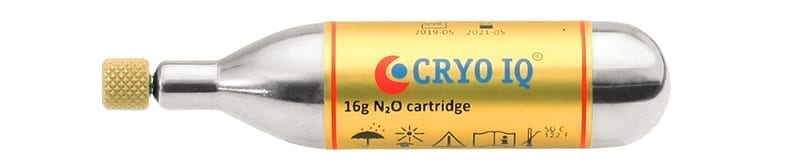 CryoIQ N2O Gas Cartridge 16G Cryoalfa Cartridge