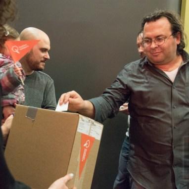 Les membres de Québec solidaire dans Gouin votent