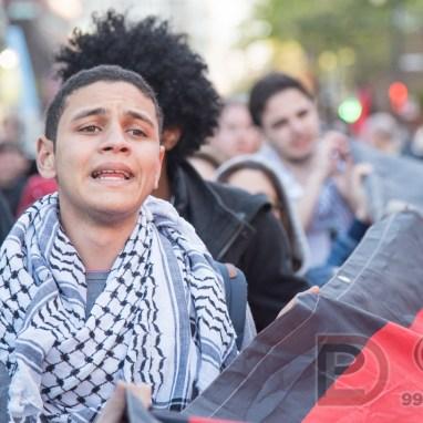 Manifestation en solidarité avec des prisonniers palestiniens
